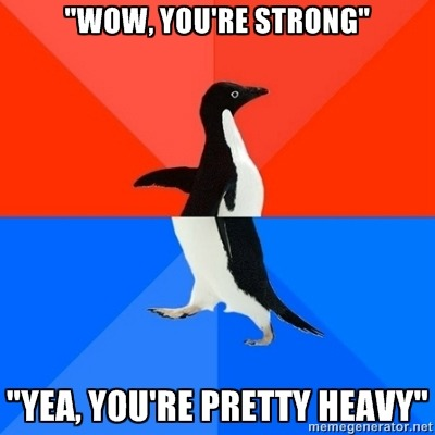 meme-spot:  I was trying to show off and… socially awkward penguin