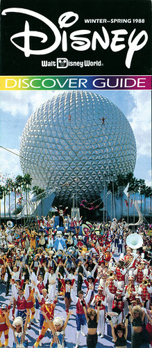 Walt Disney World Discover Guide Brochure-Front (1988) by scad92 on Flickr.