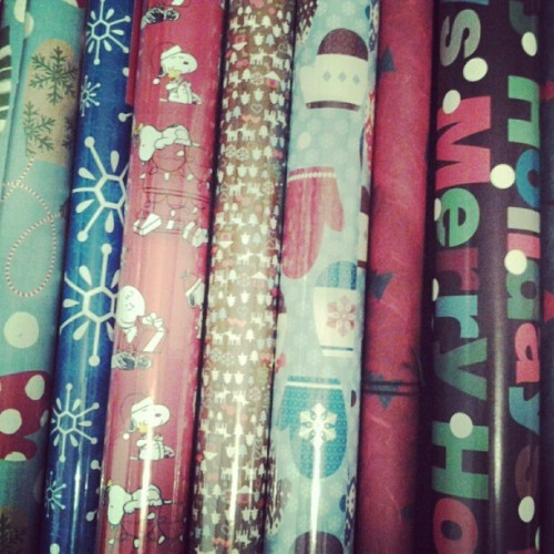 I think I have more than enough wrapping paper #christmas #christmaspresents #wrapping #holiday