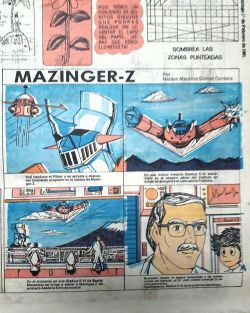 Mazinger Z vintage comics. El Salvador, 1981.