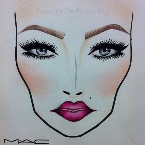 Temptress💋  #chantelleartistry #makeupartistry #makeupartist #maccosmetics #macboca #makeup #artist #facechart #drawing #face #painting #makeupisart #makeupart #lifeofanartist #ilovemaciggirls #art #eyes #lips #lashes #artistic #passion