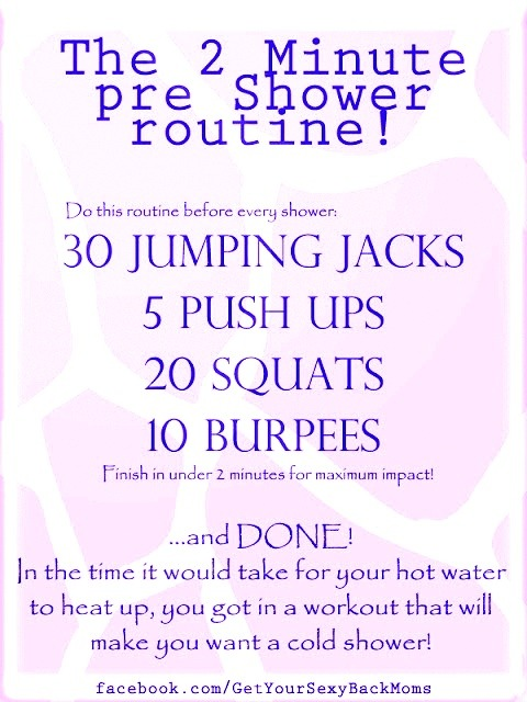 10000steps:  friskyfirmfit:  definitely doing this before my shower, I've been skipping out on my workouts from this cold I have it's horrible  E