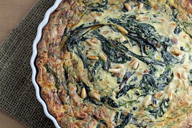 Swiss Chard and Saffron Tart