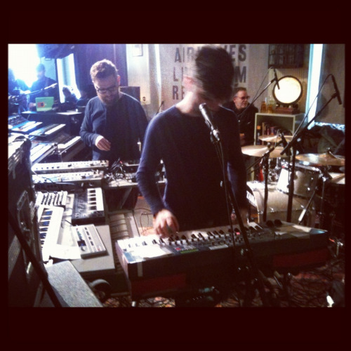 One of my favourite bands, Apparat Organ Quartet, when they played at KEX Hostel in Reykjavik for Airwaves 12.