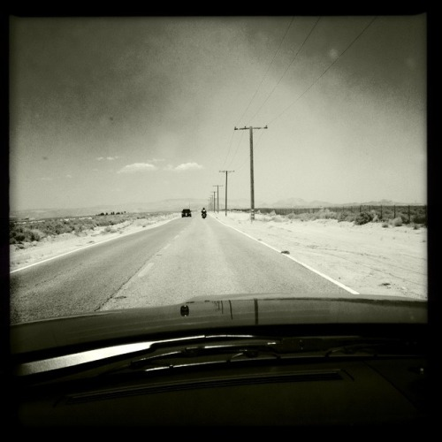 Saturday morning I drove through the desert.