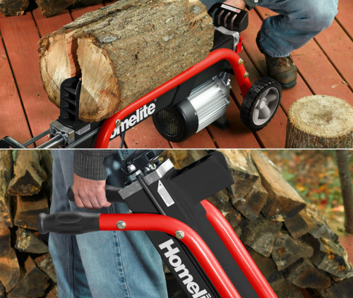 Homelite 5-Ton Electric Log Splitter. Befriend this electric lumberjack and it'll be a warm winter.