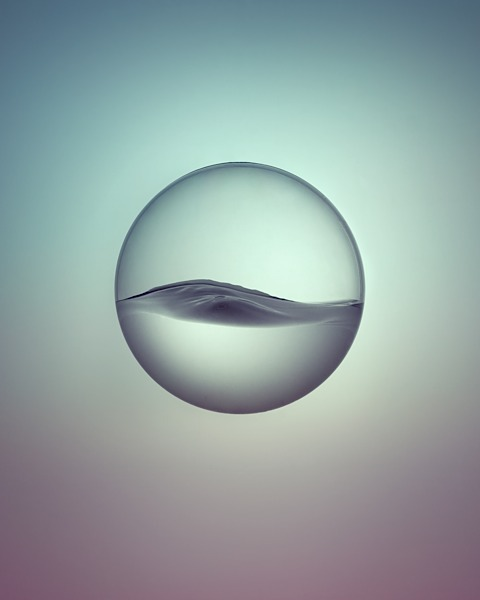 circlecircle:  Water studies by talented Owen Silverwood http://www.owensilverwood.com  Stunning visual — would be great to see in a motion sequence.