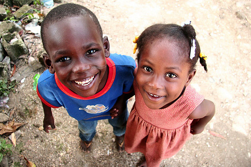 qirls:  cravinqfood:  These kids live in Haiti. They are poor. VERY poor. These smiles that you see on their faces? A school was under construction. They were happy that they were getting an education. I think that we should be grateful for what we have. We have a school, we have a home, and we have food. We should appreciate everything that we have, even if we don't like it.   ^ amen omfg