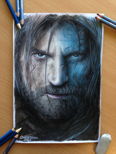 damnguido:  gameofthrones:  here is the link of how i did the drawing : step by step https://www.facebook.com/photo.php?fbid=10151530974027604&set=a.10151173299177604.497488.708387603&type=1&theater Dino Tomic  Holy Shit.  WOW.