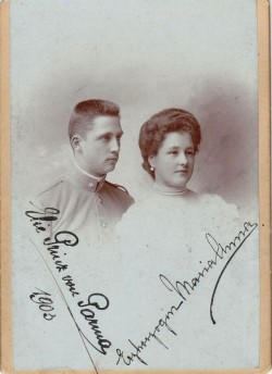 Duke Elias Bourbon-Parma and his fiance, Archduchess Marie Anne of Austria. 1903.  Elias was hot. Im kind of Jealous of Marie Anne!!!  Ps: Elias was half brother of Kaisern Zita  of Austria nd Marie Anne one of the eught daughters of Archduke Friedrich of Austria-Teschen and Pss Isabella of Croy, so, she was cousin of King Alfonso XIII of Spain and Crownprincess Stephanie of Austria.