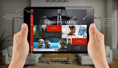 Rethinking Netflix for iPad Very interesting ideas in this new iPad app concept for NetFlix by You-I Labs (and what a nice name for a design company focused on user experience).