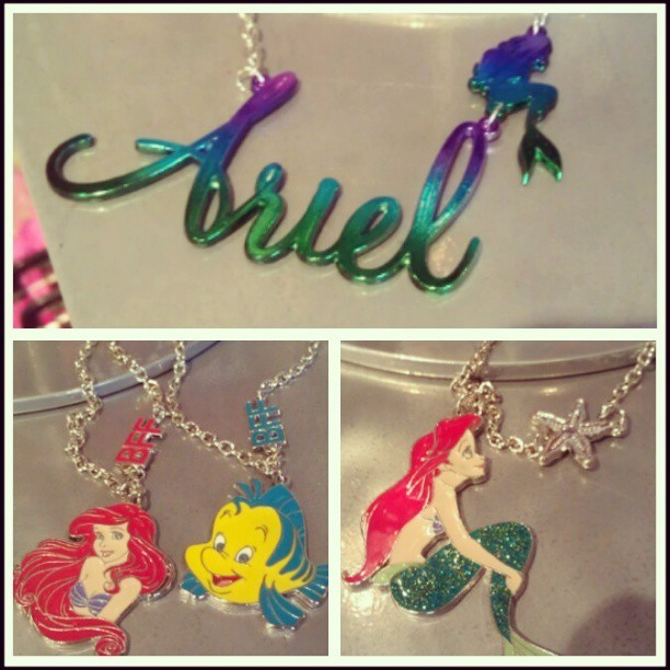 New Ariel necklaces at hot  topic. #Ariel #thelittlemermaid #hottopic #howmuchmoneydoyouplanontakingfromme #iwantthemall