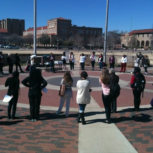 #OneBillionRising at Memorial Circle @texastech