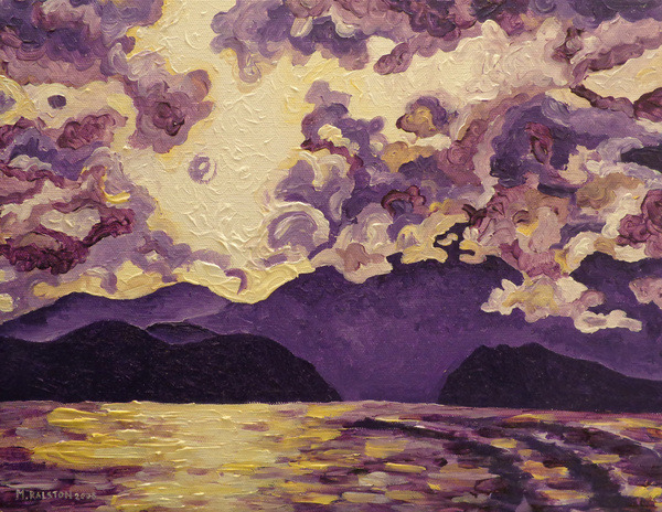 "thelookingglassgallery:  ""Purple Mountain"" by Morgan Ralston"