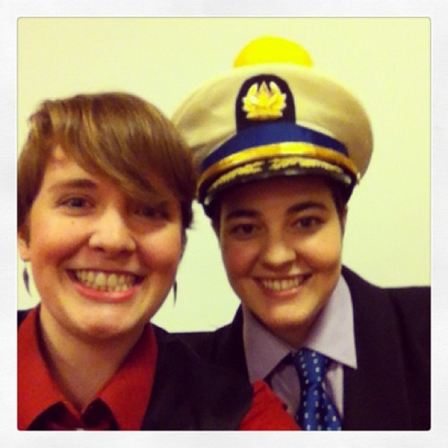 icarusing:  @johnfinnemore Our panel on Cabin Pressure is about to begin! @miladyvilya  happiest people on earth :)