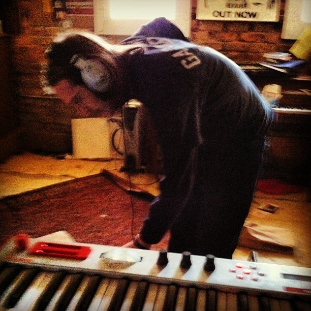 Laid down keys for the most 'metal' Helen Scott song (at Lion Factory)