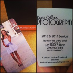 These are seriously so cool. If anyone wants senior pictures taken just contact @kerricphoto. Or if you need a business card just let me know. You will be happy with the results I promise! #advertising #kerricollinsphotography