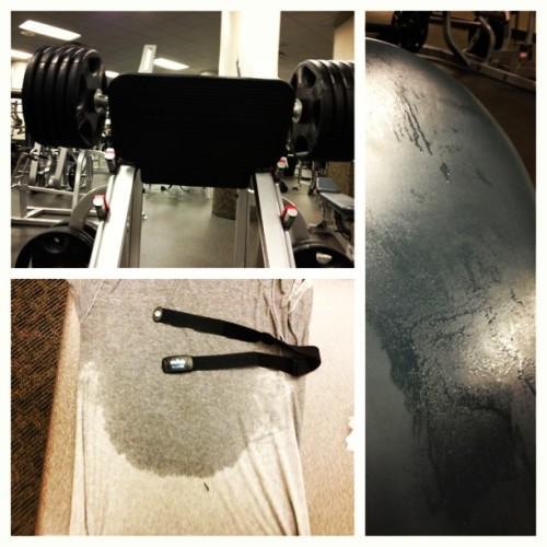 #picstitch 450 lbs angled leg press, sweat thanks to mr. Treadmill #getfitstayfit #toughmuddertraining