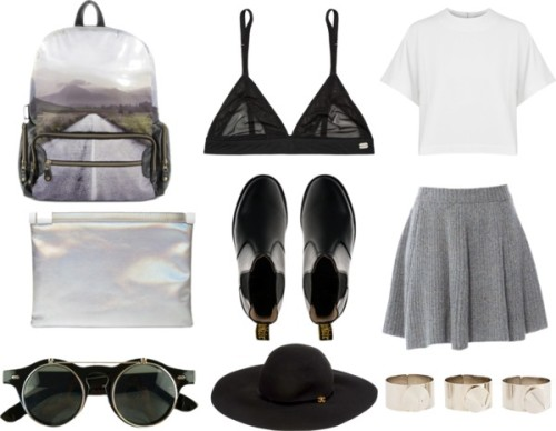 fashionfever:   Style Set #79 by thestylelab featuring brimmed hats