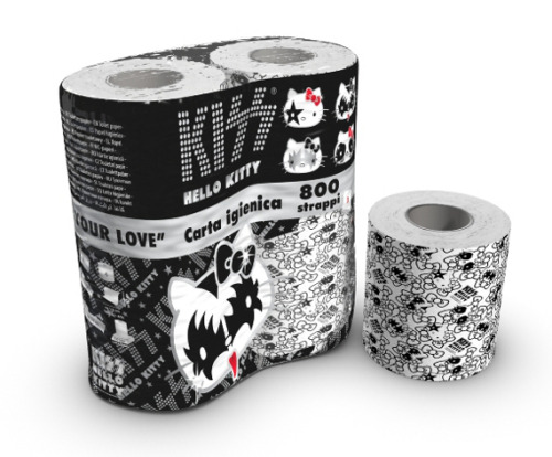 hello-kitty:  Hello Kitty KISS Toilet Paper