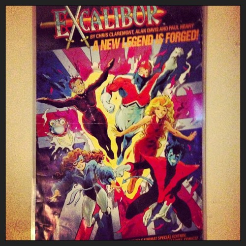 1987 Excalibur promo Alan Davis poster #comics #marvel #captainbritain #kittypryde #phoenix #weezer #nightcrawler (at Earth Prime)