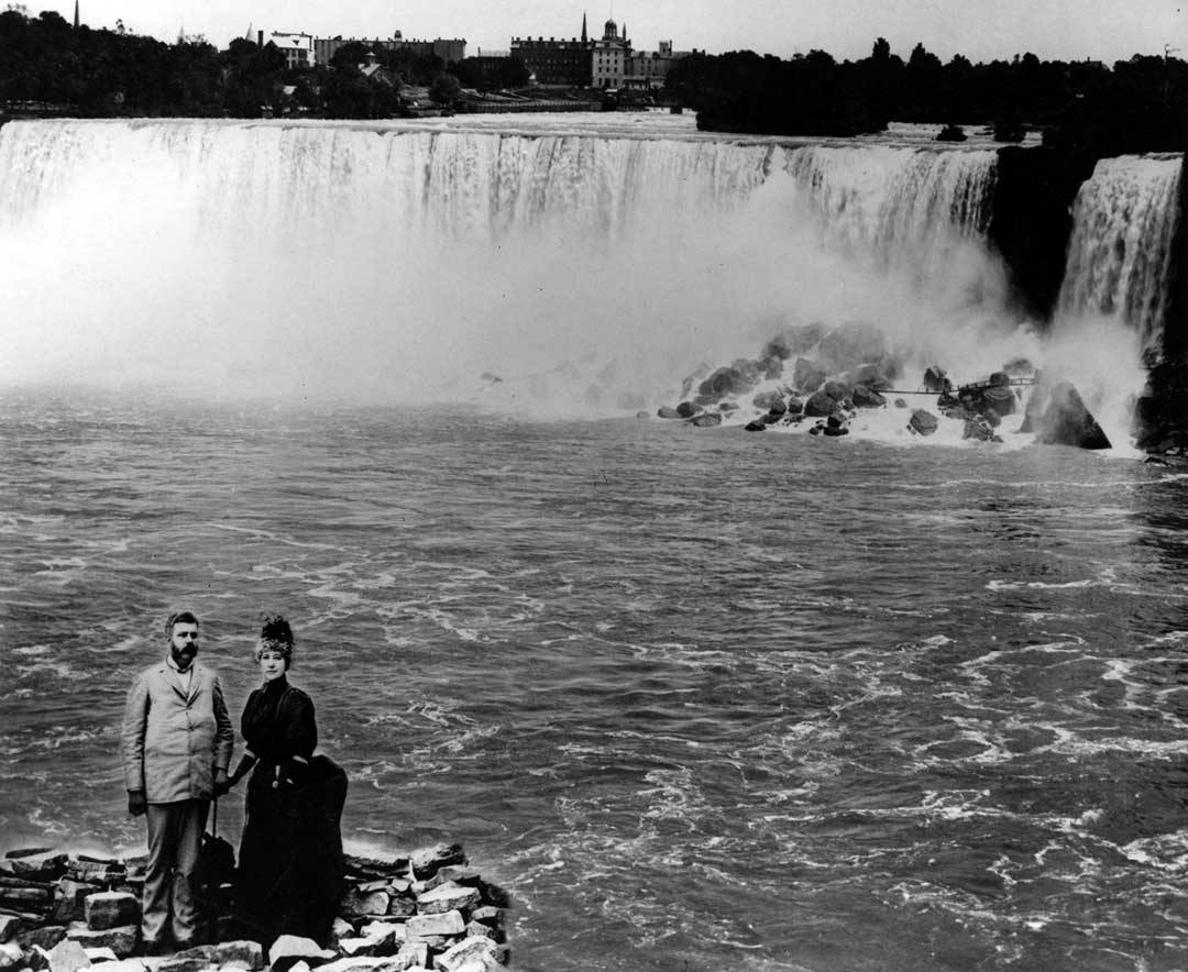 Westinghouse and Marguerite on a visit to Niagara Falls on Nov. 16, 1896.
