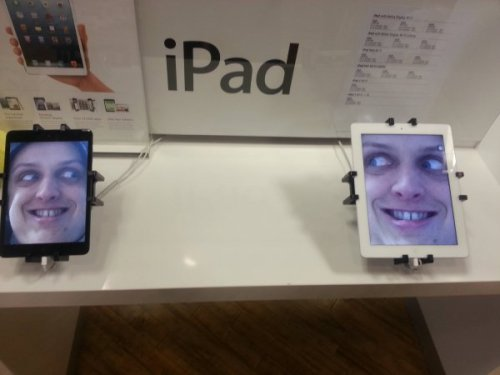 Someone Left Their Creepy Picture on an iPad in Apple Store Let's mark these down 30%.