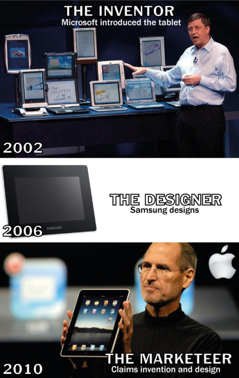 "humortrain:  ""We at Apple, Invent, Design and Build the best products in the world"""