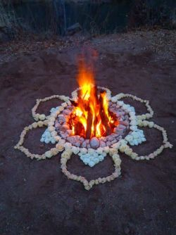 hippie boho fire flowers bohemian bonfire rocks gypsy mystical lotus flames mystic Spiritual Lotus Flower mandala free spirit ritual beach fire fire pit wanderer bows&arrows bowsandarrowsforever