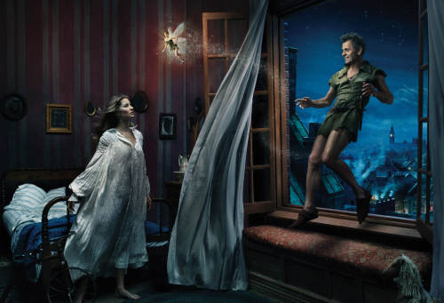 Annie Leibovitz's Disney Dream Portraits are generally kind of creepy, but you've gotta love Tina Fey as Tinkerbell.