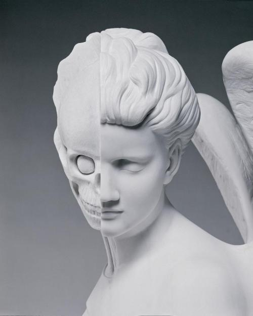 statuemania:   The Anatomy of an Angel (head detail) by Damien Hirst, 2008.