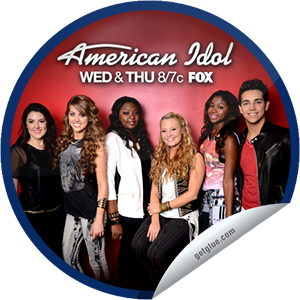 I just unlocked the American Idol: Top 6 sticker on GetGlue                      4798 others have also unlocked the American Idol: Top 6 sticker on GetGlue.com                  Season 12's finalists perform and a finalist is eliminated in a results episode. Thanks for watching! Share this one proudly. It's from our friends at http://americanidol.com and FOX.