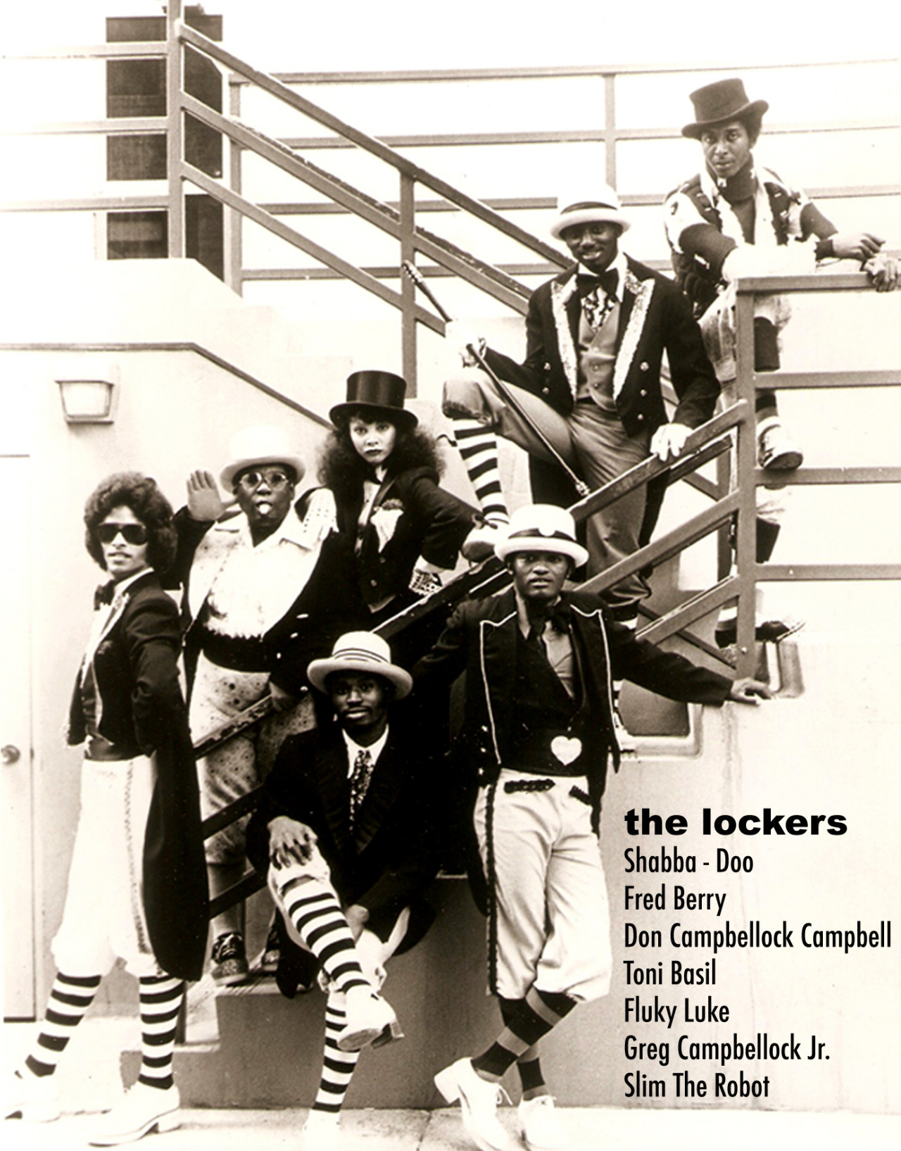 soulbrotherv2:  lustnspace:  The Lockers  Dance group from way back in the day.  Had everyone in the 'hood pop-locking.  Or trying to pop lock.