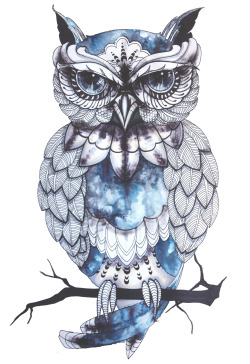 Illustration art hippie hipster pencil inspiration tattoo artist clouds ink pattern print Poster owl art inspiration artists on tumblr owl art owl illustration TATTO ART