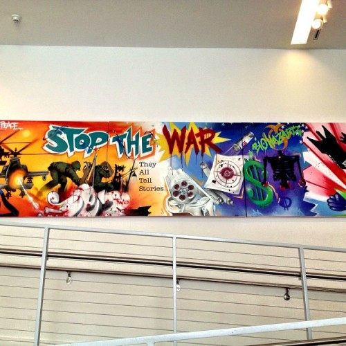 Stop The War #bronx #bx #newyorkcity #nyc #graffiti #art (at Bronx Museum of the Arts)