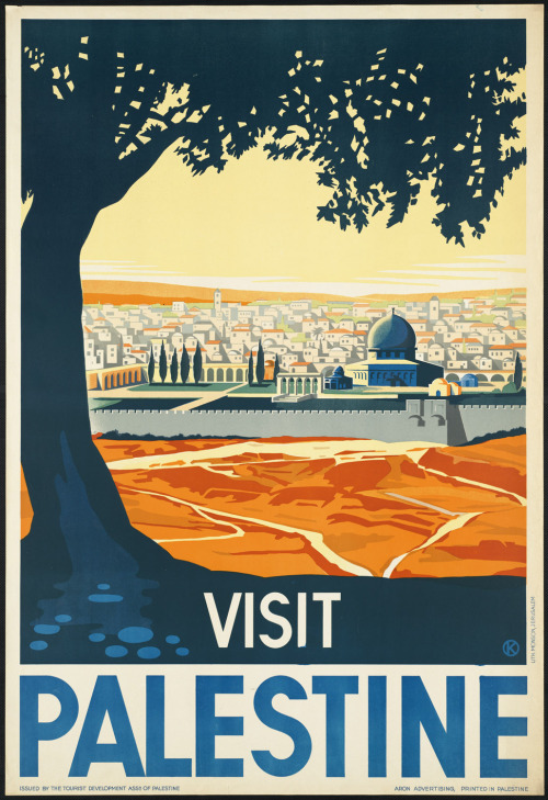 c86:  Visit Palestine, c. 1930-1939 Artwork by Franz Krausz via Boston Public Library