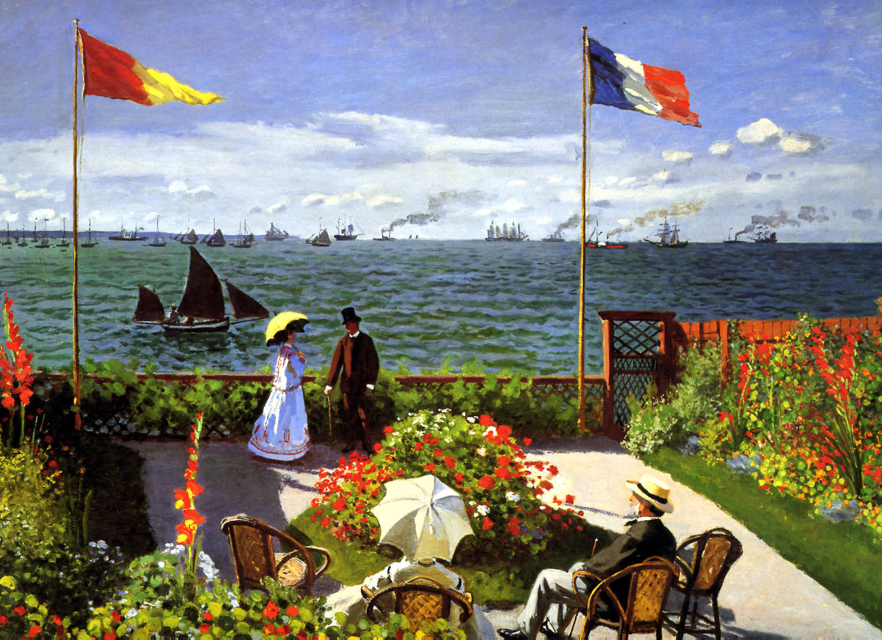 Claude Monet - Garden at Sainte-Adresse