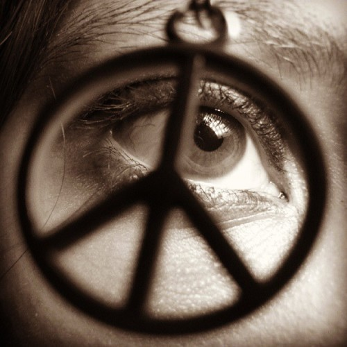 You just need to make the #peace around you. :)  #Symbol #Face #Eye