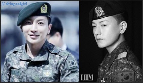 "alvingoodgirl:  Sora's ""men"" during enlist hihihiwhat about Je Hoon and Seung Ho! :-) she is the army angel!"