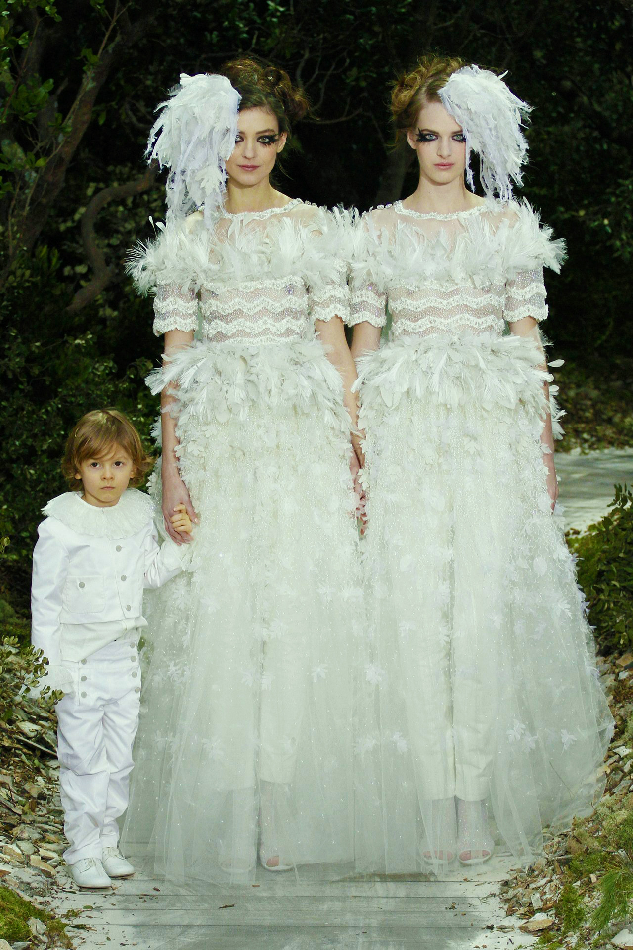 Hudson Kroenig, Kati Nescher, and Ashleigh Good for Chanel Haute Couture Spring/Summer 2013