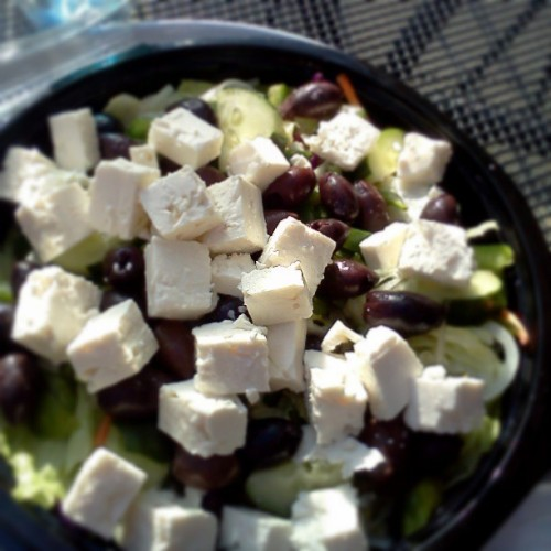 So much feta! So many olives! Tags: #food #delicious  (at Claymont Steak Shop)