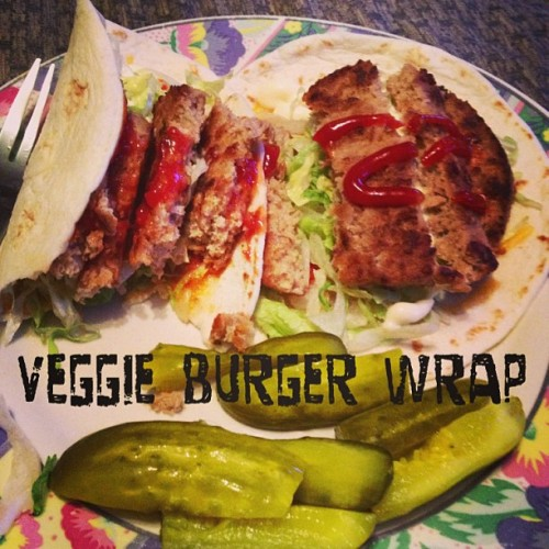 It's what's for lunch #lunch #vegetarian #veggieburger #nyc #manhattan #food