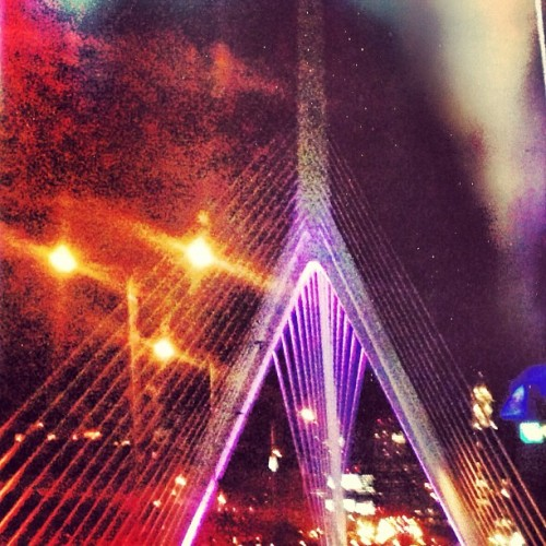 The Zakim Bridge is beautiful at night, every night.  (at Zakim Bridge)