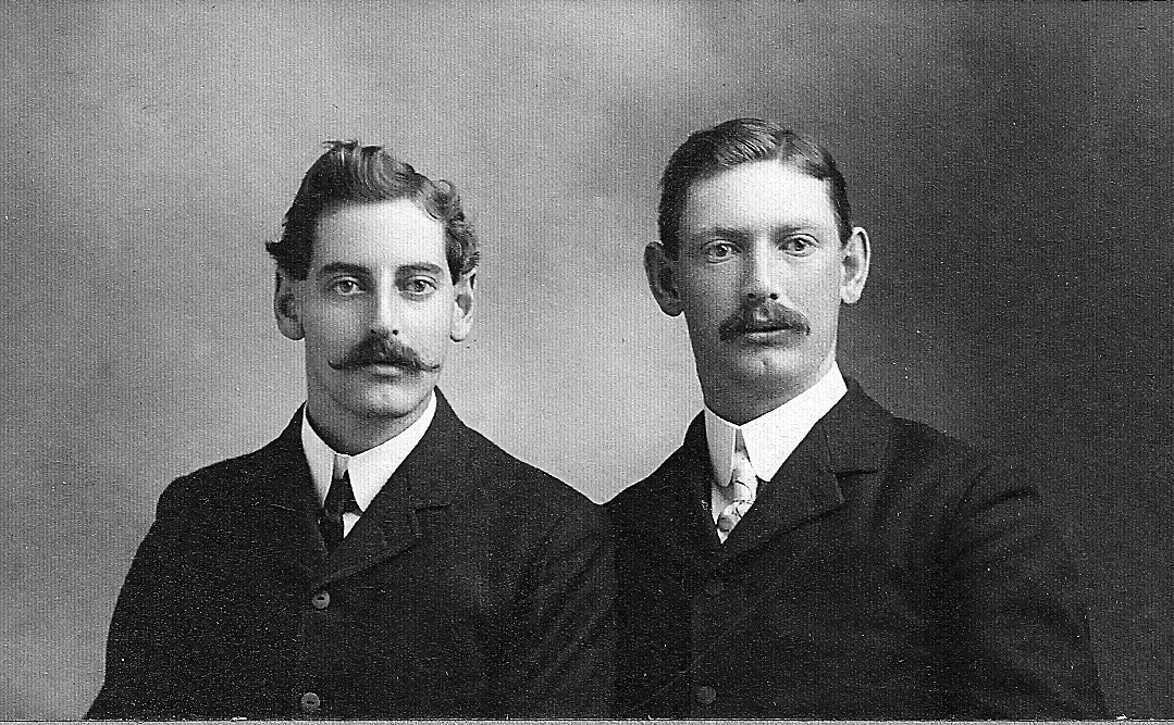 I absolutely love these mustaches. And the guy on the left has such beautiful eyes. Men seemed so handsome back then - whenever this was. I found this photo stuffed in a box of letters I was rummaging through in yet another antique shop. I don't pay much attention to the other stuff in antique shops, but if there is a box of ephemera, I find it hard to pass by without stopping to look.