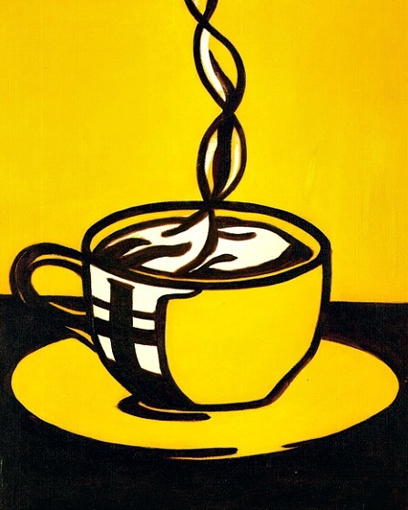 marcedith:  …Roy Lichtenstein. Cup of Coffee 1961…