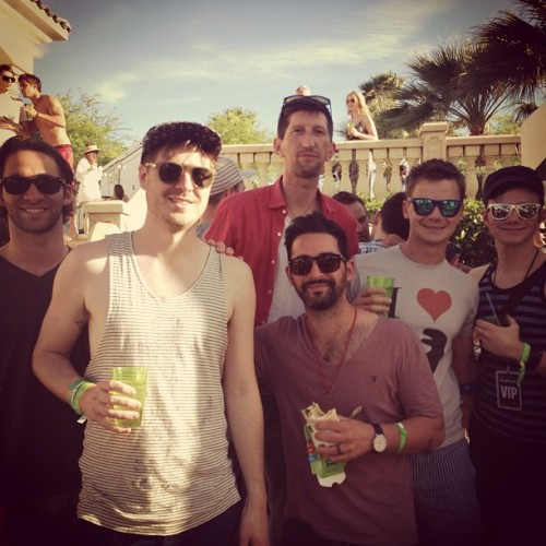 Chris & Will at Coachella!  Wait…if Chris is at Cochella…. What if he takes his shirt off?