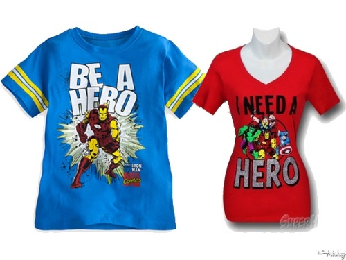 "Marvel Sells ""I Need A Hero"" T Just For Women"