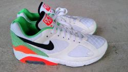 "gotyoursole-lution:  Nike Air 180 ""Green Safari""  Release Date: Currently Unannounced   Wow want!"