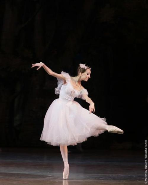 loverussianballet:  Always good to see nice new face.  Arina Varentseva, who made her debut in the title role in Bournonville's La Sylphide this week, will next dance this role at the Mariinsky Theatre on Wednesday, April 10. Anton Korsakov will be her partner in the role of James. Arina Varentseva graduated from the Vaganova Academy of Russian Ballet in 2012 and joined the Mariinsky Ballet the same year. Photo: © Mariinsky Theatre / Natasha Razina.