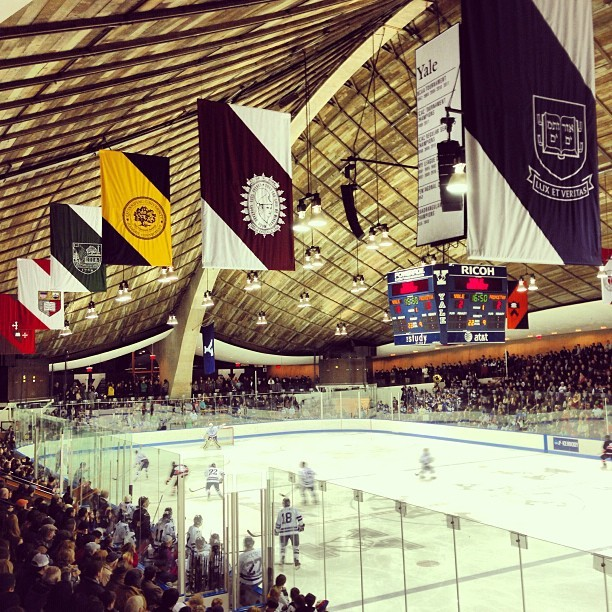 Standing room only at #TheYaleWhale for men's hockey, #8 Yale vs. Princeton. (at David S. Ingalls Rink)